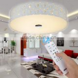 High Brightness SMD5730 Iron Ceiling Lights Round Acrylic lampshade Crystal Ceiling Lights