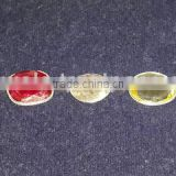 Rose Cut Corundum 925 Sterling Silver Bracelets, Colored Ruby Silver Bracelets, Lemon Topaz Fashion Jewelry