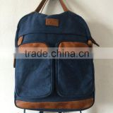 hiking backpack made of canvas material with multi pockets