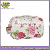 Flower Printed Hanging Waterproof Beautiful Canvas Cosmetic Bag