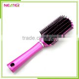 household professional plastic square cushion pink rush hair brush with spary pump for home use