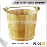Finnish pine sauna bucket and ladle for sauna rooms, sauna spoon and wooden bucket , barrel sauna for cheap sale