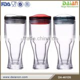 Free Sample acrylic plastic unique beer mug with cover
