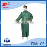 Non Woven White/Blue/Red/Green/Yellow disposable Lab Coat With Hook and Loop
