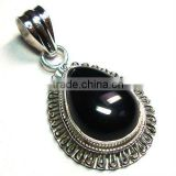 Natural gemstone 925 silver black onyx jewelry