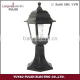 gate pillar light/palstic outdoor garden light/cheap gate standing light/CE,ROHScertificate classical
