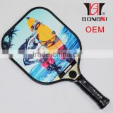 2016 high quality aluminium honeycomb pickleball paddle racket 255g