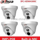 Dahua IPC-HDW4300C Built-in MIC IR HD 1080p IP Camera 3MP IR security cctv Dome Camera Support POE HDW4300C