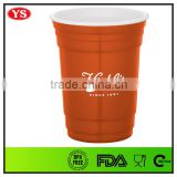 Best selling product Bpa free 16 oz 450 ml Double wall red party cup for drinking