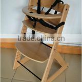 Beech wood baby high chair