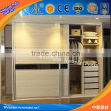 Foshan aluminum extrusion profile wardrobe mirror sliding doors factory / aluminium profile sliding wardrobe door