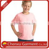 kids fashion t-shirts wholesale kids plain pink t-shirts 100% cotton 160gsm kids clothes t shirt baby boy pictures of the summer