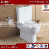 modular home ceramic toilet, china supplier two piece toilet wc, Lesotho sanitary ware toilet set