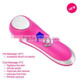 new mini Japan acne treatment face machine/ultrasonic cold and heat acne beauty machine/ vibration ance machine by portable