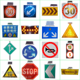 Good warning effect than reflective film solar powered led traffic sign