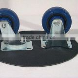 Manufacturer's high quality trundles 3''-12'' Rigid caster Rubber caster wheel for hand carts Truckle of platform trolley