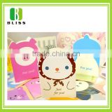 Factory Customized Newest folding cartoon Brochure die cut print invitation lcd video greeting card