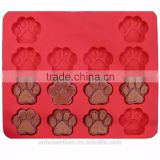 High quality 15-cavity Lovely nonstick silicone dog bone cake mold