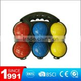 Plastic boules toss game