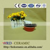 good quality round colored ceramic bakeware with two handles