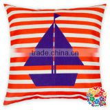 Pillow Cover Cushion Digital Printed Pillow Pattern Red Stripe Pillow Cover Cotton