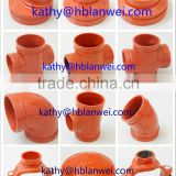 "UL FM Approved 1""-12"" Ductile Iron Grooved Fittings Pipe Fittings china grooved fittings"