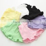 hot shorts girls ruffle leggings baby girls summer pants, solid color children flounced shorts