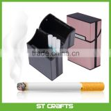 Amazon Hot Sale Aluminum Metal 20 Cigarette Case Lighters Best Friend Metal Tobacco Box