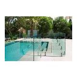 AS2208 Standard Swimming Pool Glass Fencing , Glass Panel Garden Fencing Safety