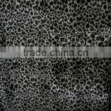 New style&pattern 100 polyester leopard printed KS four way stretch velour lycar fabric