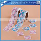 Full color printing adhesive paper sticker roll label