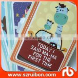 RUIBON DESIGNS baby shower gift baby milestome cards memory cards baby gift set
