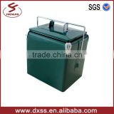 Durable metal portable rotomolded cooler box 13 L