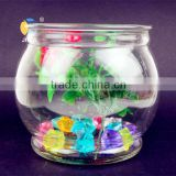 Circle transparent glass vase fleshier plant hydroponic flower pot crystal fish tank home desktop decoration small