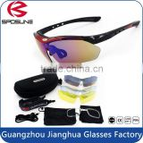 Fashionable anti-dazzle uv400 protective lens all active sports cycling sunglasses