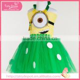 Braces skirt viridity and bright green gauze dress with white pattern ornament halloween costume