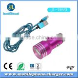 Hot sales in EU North America dual usb car charger with LED lighter use new & fashion design