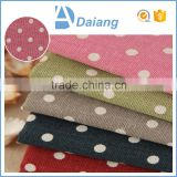 wholesale stock high quality dots cotton printed polyester /cotton fabric for sofa cover