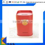 colorful tin money box, money box