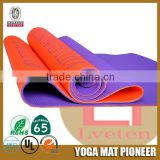 custom printed pvc foam yoga mat anti-slip eco exercise mat fintness mat