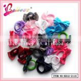 Grosgrain ribbon bow wholesale fashionable kids fabric elastic band,bow elastic hair bands