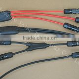 tCE certificated hree way MC4 Y branch cable assembly for solar power system