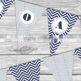 Wedding party free design triangle PAPER FLAG, party frozen bunting