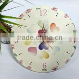 UV Oil 4C Printing Colorful Heart Decorative Acrylic Wall Clock