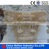 marble stone carved onyx yellow column and pillar cap,pillar tops