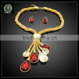 Hot Sale African REAL 24K GOLD PLATED Jewelry Set Wedding Jewelry set Dress Jewelry set EHK588