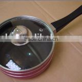 Blue Aluminum Pressed Non-stick milk boiling pot Ceramic Saucepan Cookware Factory price