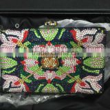 colorful ladies designer handbags crystal and rhinestone evening purses hand bag for women
