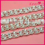 wholesale clear crystal rhinestone empty cup chain for decroation WRC-245