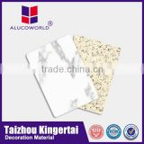 Alucoworld best quality excellent decorative marble building facade material aluminium composite panel cutting board